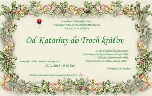 pozvánka Od Kataríny do Troch kráľov