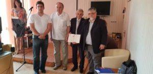 zostavovatelia publikácie zľava Dominik Antolov, Peter Liptay, Ján Labát a Pavel Antolov