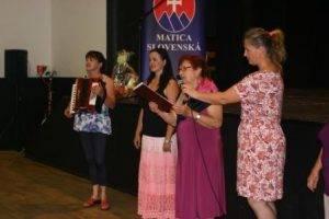 Privítanie predsedníčkou MO MS Čakajovce G. Horávthovou, foto: N. Rechtorisová