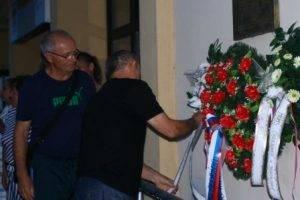Slávnostné položenie vencov k buste Š. Moysesa