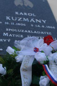 Pamätná tabuľa Karola Kuzmányho na priečelí DMS v Nitre