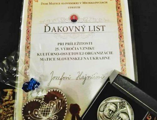 Jubilujúca Kultúrno-osvetová organizácia Matica slovenská na Ukrajine oslávila 25. výročie