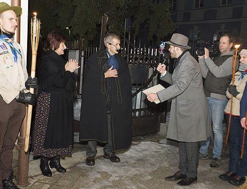 Námestie P. O. Hviezdoslava ožilo svetlami fakieľ a lampiónov ako pred sto rokmi