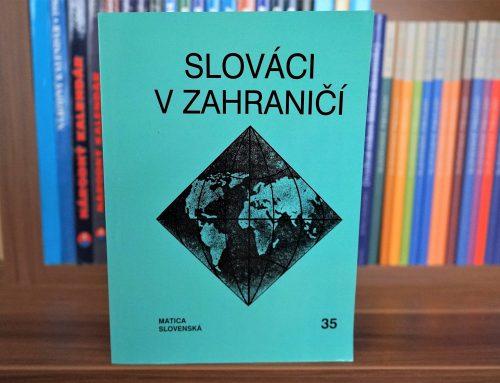 Ročenka Slováci vzahraničí jubiluje