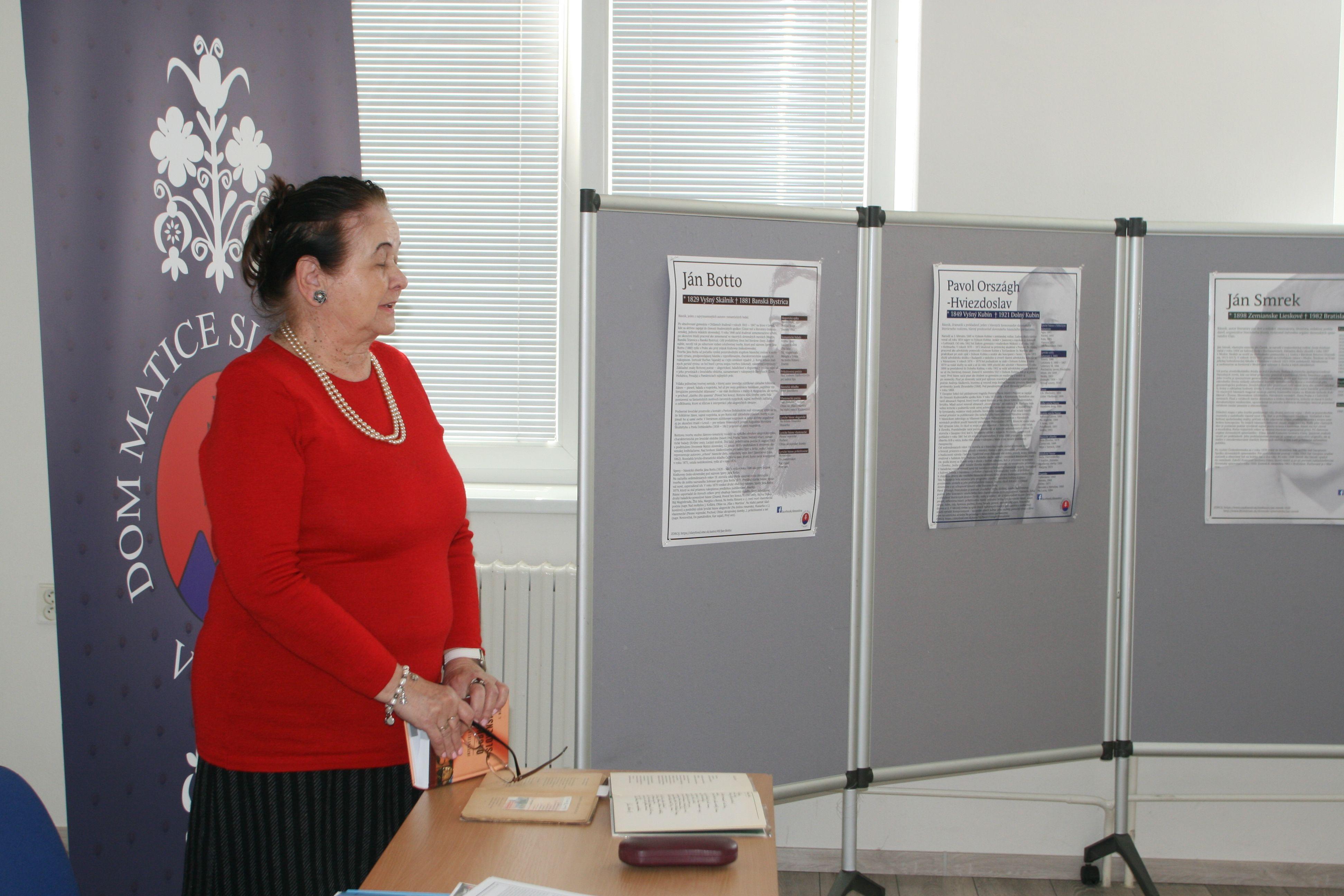 d8f78ec3e Popoludnie so slovenskou poéziou,predsedníčka MO MS Nitra - Klokočina Mária  Lietavová