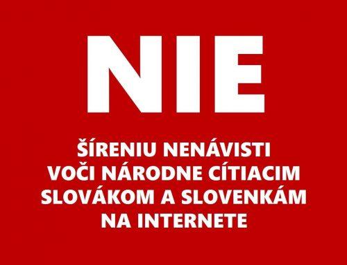 Matica slovenská sa stavia proti šíreniu nenávisti voči národne cítiacim Slovákom a Slovenkám na internete