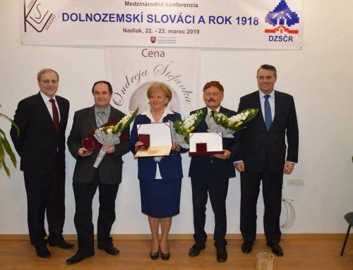 Cena Ondreja Štefanka má aj vroku 2019 svojich laureátov