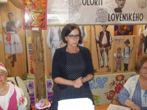 Námestníčka primátora mesta Košice Mgr. Lucia Gurbáľová sa prihovára prítomným