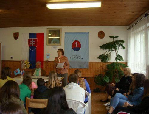 Medzigeneračné stretnutie vDome Matice slovenskej vRimavskej Sobote