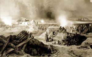 reprodukcia obrazu Bitka pri Turčeku od neznámeho autora