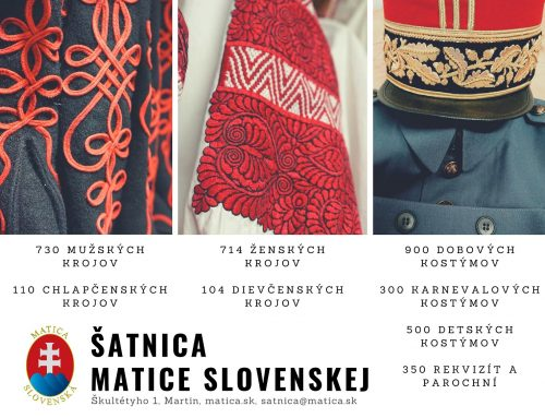 Šatnica Matice slovenskej v Martine začína šiť rúška pre zraniteľné a sociálne slabé skupiny obyvateľov