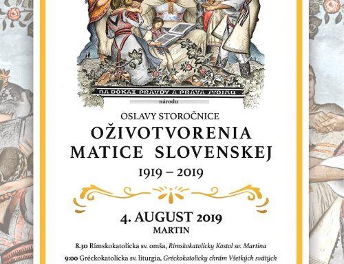 Matica slovenská oslávi sté výročie obnovenia činnosti z roku 1919