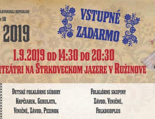 Na druhom ročníku Folklórneho festivalu Matice slovenskej v Bratislave vystúpia Slovenskí rebeli či FS Karpaty