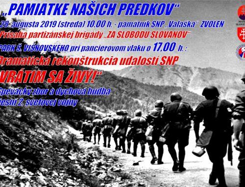 Matičiarov v protifašistickom odboji predstaví Matica slovenská v rámci 75. výročia SNP vo Zvolene