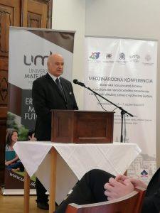 Ján Varšo, predseda ÚSŽZ počas príhovoru