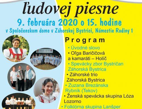 Folklórne bohatstvo Záhoria predstaví ministerke kultúry 2. ročník Záhoráckeho festivalu ľudovej piesne v Záhorskej Bystrici