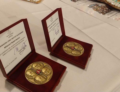 Ocenenia pri storočnici Miestneho odboru MS v Kremnici