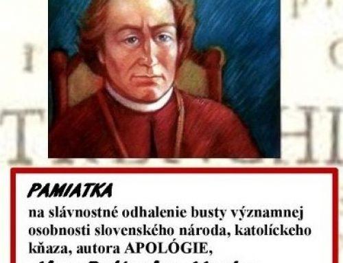 Slávnostné odhalenie busty J. B. Magina v Dubnici nad Váhom
