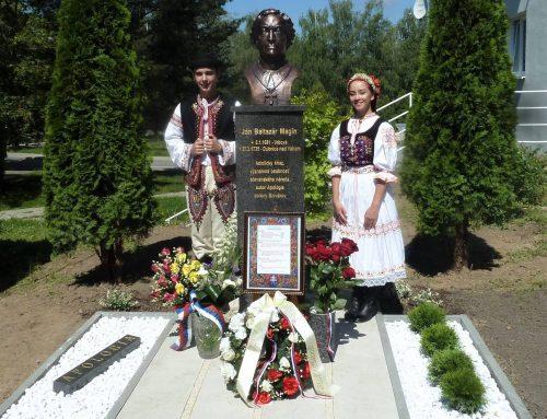 Autorovi slávnej Apológie Jánovi Baltazárovi Maginovi odhalili bustu v Dubnici nad Váhom