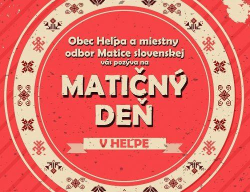 Na Pamätnom dni vo Zvolenskej Slatine a Matičnom dni v Heľpe oslávime 157 rokov Matice slovenskej
