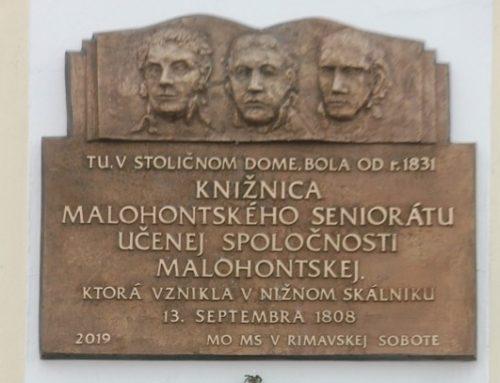 Odhalenie pamätnej tabule v Rimavskej Sobote