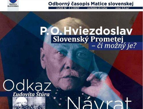 Matica slovenská prichádza na trh s novým odborným časopisom Slovensko – Národné spektrum
