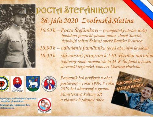 Busta M. R. Štefánika vo Zvolenskej Slatine sa po desaťročiach vráti na pôvodné miesto