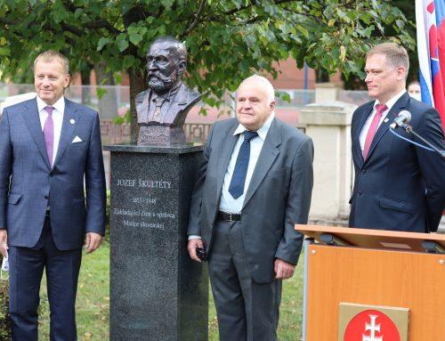 Matica slovenská si uctila Jozefa Škultétyho odhalením jeho busty v Martine