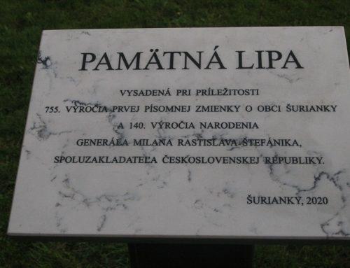 Pamätná tabuľa pripomína výročie písomnej zmienky obce a narodenia M. R. Štefánika