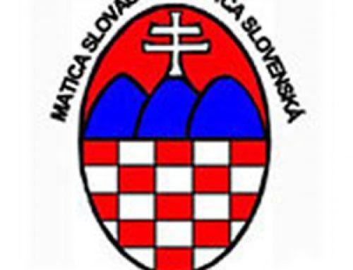 Chorvátski krajania vyjadrujú plnú podporu Matici slovenskej