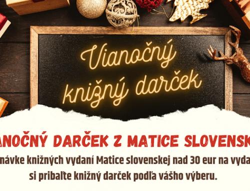 Vianočný knižný darček z Matice slovenskej