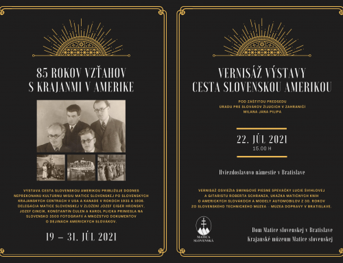 Matičná výstava v Bratislave pripomenie 85 rokov vzťahov s americkými Slovákmi