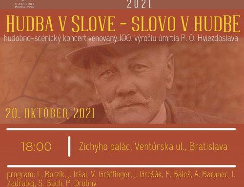100 rokov bez Hviezdoslava: Koncert Hudba v slove – Slovo v hudbe sa uskutoční pod záštitou Domu MS v Bratislave