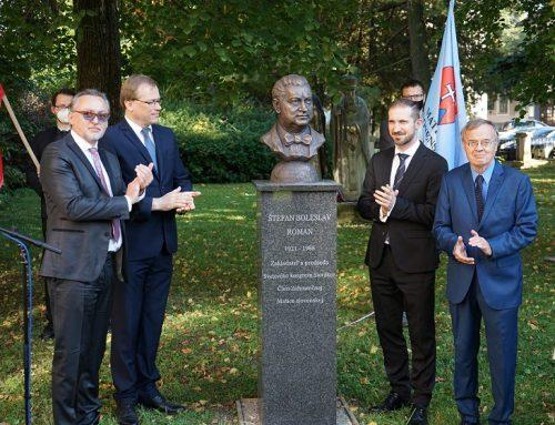 Prvú bustu Štefana Boleslava Romana na Slovensku odhalili v matičnej Aleji dejateľov